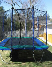 Tc 780XT enclosure shown on an 11'x17' Trampoline