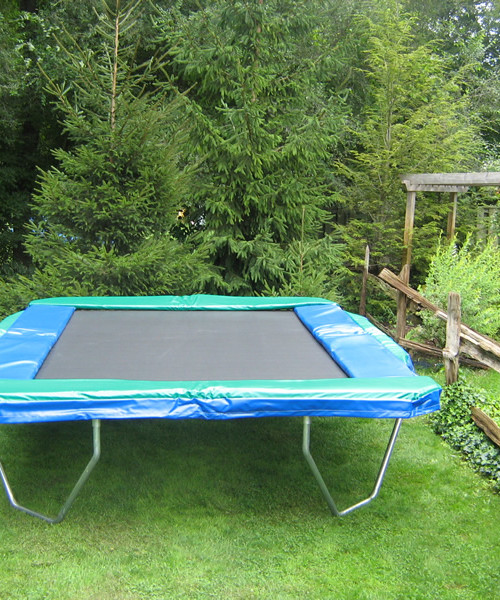 The 10 Ft. X 12 Ft. Rectangular Trampoline Is Great For