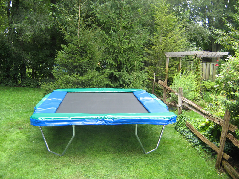 The 10 Ft X 12 Ft Rectangular Trampoline Is Great For