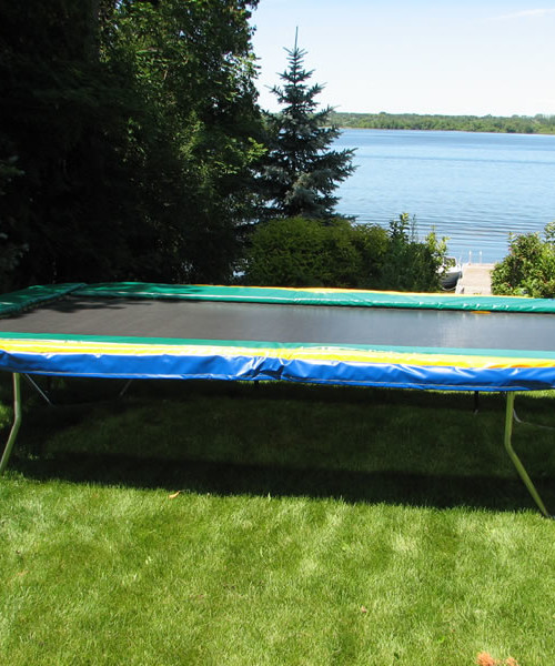 Jumpsport Elite 14 Ft Powerbounce Trampoline With: 11 Ft. X 17 Ft. Rectangular Trampolines Provide The Best