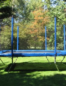 Canadian Made Trampoline 10x14 with an enclosure