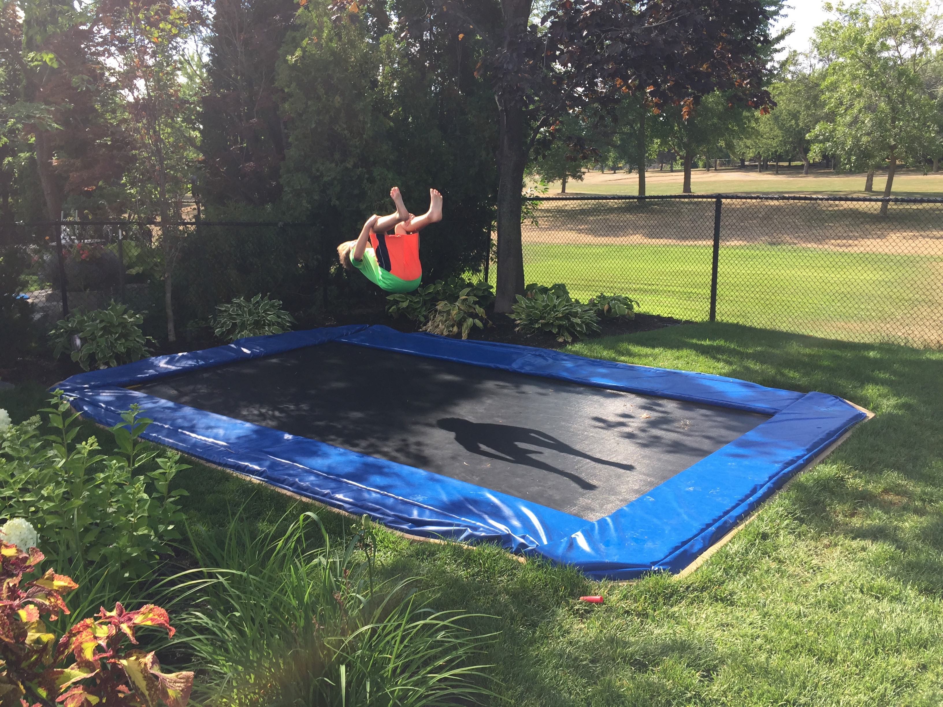 In Ground Trampoline What A Great Idea