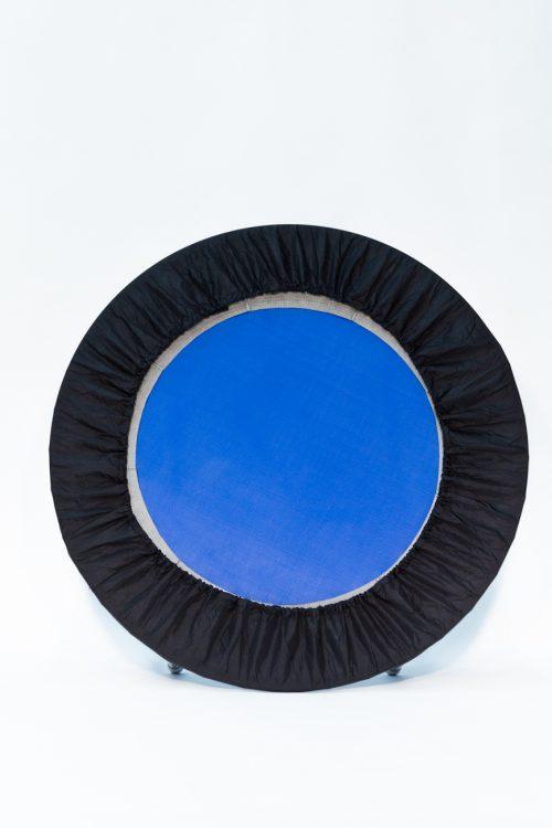 Needak hard Bounce non folding blue rebounder with black skirt
