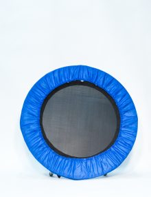 Black non folding hard bounce rebounder with blue skirt